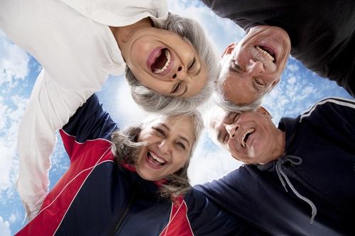 groupe de seniors
